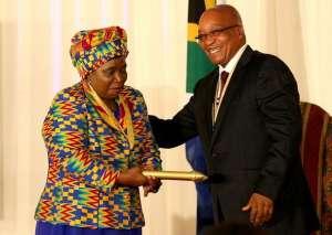 Nkosazana Dlamini-Zuma with President Jacob Zuma. Picture: SIMPHIWE NKWALI