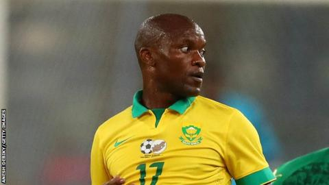 Tokelo Rantie put South Africa 1-0 up against Nigeria in Uyo