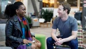 Lola Omolola with Facebook Founder Mark Zuckerberg