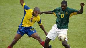 Marc-Vivien Foe died after collapsing on the pitch during the 2003 semi-final against Colombia