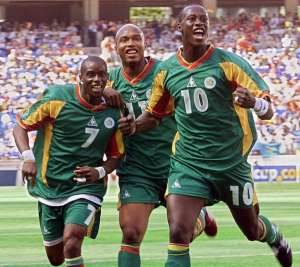 The 2002 World Cup gave El Hadj Diouf (centre) his greatest sense of achievement