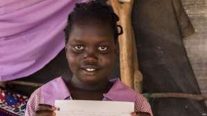 Stella Poni Vuni read a letter from Lucy, a student in Boulder, CO, and drew her a picture in return. She lives with her family who are refugees from South Sudan. Inside Dagahaley Refugee Camp around 1,888 students attend Illeys Elementary School where many wrote letters to fifth graders at Valley Peaks Elementary School in Boulder, CO who had asked to be in touch. Around 250,000 refugees reside at Dadaab Refugee Camp in Dadaab, Kenya on May 11, 2017. Because of heavy rains after a period of extreme dry, the area experienced flash flooding.