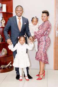 Prophet Bushiri with his family, his wife plays a leading role in running SBI