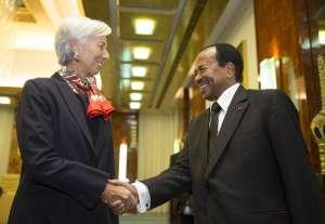 Cameroon's longtime leader Paul Biya with IMF's Christine Lagarde,