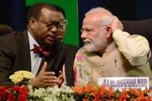 African Development Bank president Akinwumi Adesina and Indian Prime Minister Narendra Modi