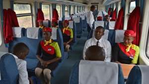 """The new railway replaces a colonial-era line that was dubbed the """"Lunatic Express"""" [Tony Karumba/AFP]"""