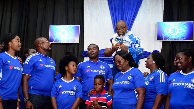 Reverend Azigiza thanked God for Chelsea's success