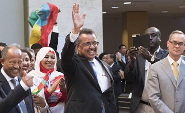 WHO  The new head of the World Health Organization, Tedros Adhanom Ghebreyesus.