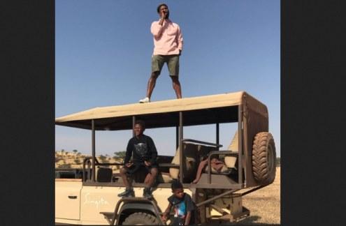 Photo: Usher/Twitter Usher in Tanzania.