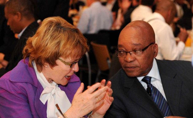 Jacob Zuma and former Democratic Alliance leader Helen Zille attend a media breakfast in Cape Town. AFP e Picture -