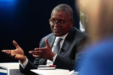 Aliko Dangote, 60, has a net worth of $12.1 billion, according to the Bloomberg Billionaires Index. That ranks him just inside the top 100 worldwide.
