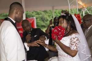 Pastor Mani officiated the wedding