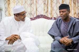 President Buhari and Vice President Osinbajo (file picture)