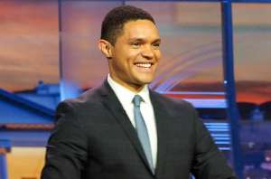 "PHILADELPHIA, PA - JULY 26: Host Trevor Noah, ""The Daily Show with Trevor Noah Presents The 2016 Democratic National Convention; Let's Not Get Crazy"" speaks from the Annenberg Center for the Performing Arts on July 26, 2016 in Philadelphia, Pennsylvania. (Photo by Paul Zimmerman/Getty Images for Comedy Central)"