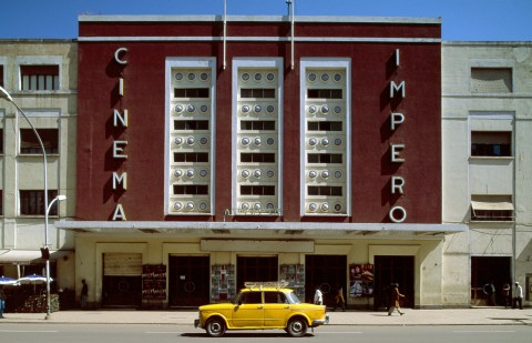 "In this undated photo provided by UNESCO, the Cinema Impero in the Eritrea capital city Asmara, which formed part of the country's application to be named a UNESCO World Heritage city. Eritrean officials on Saturday July 8, 2017, claimed ""victory"" after the UNESCO World Heritage Committee unanimously decided to put the African nation's capital city of Asmara onto the World Heritage list, citing 19th and early 20th century modernist architecture, designed by colonial-era Italian architects and immersed in an African highland environment. (Edward Denison/UNESCO via AP) (Associated Press)"