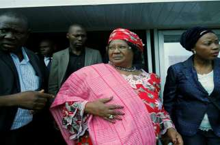 Former President of Malawi Joyce Banda (C) has been living in self-imposed exile in the US since 2014 [File photo: Reuters]