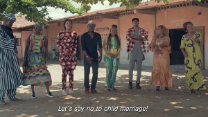 © UNICEF UNICEF international Goodwill Ambassador, Angélique Kidjo and UNICEF Benin national Goodwill Ambassador Zeynab Abib, along with seven of Benin's greatest artists have joined forces to create a song calling on the population to say NO to child marriage