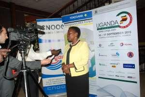Irene Muloni at the Uganda International Oil & Gas Summit