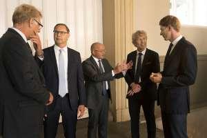 From left: Peter Damgaard Jensen, CEO of PKA; Kim Fejfer, Managing Partner and CEO of A.P. Moller Capital; Torben Möger Pedersen, CEO of PensionDanmark; Chresten Dengsøe, CEO of Lægernes Pension, Robert Mærsk Uggla, CEO of A.P. Moller Holding