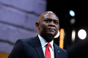 Head of The Tony Elumelu Foundation and Nigerian entrepreneur Tony Elumelu addresses France's Public Investment Bank Banque Publique d'Investissement (BPI Bpifrance) event 'Bpifrance Inno Generation' at the AccorHotels Arena in Paris on May 25, 2016. / AFP / ERIC PIERMONT/Getty Images
