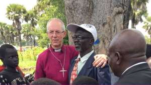 Justin Welby met a teacher in the refugee camp who has nearly 800 pupils