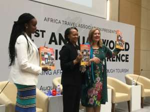 right Dr.Amany Asfour  Charperson of CBC,middle  Ms Florizele Liser ,President and CEO of Corporate Council on Africa,a  US business association focusing on connecting USA and AFrican business interests,and on the leFt Ms Sandra Uwera CBC,CEO.Photo Pierre Afadhali