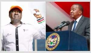 Opposition challenger Raila Odinga and incumbent President Raila Odinga
