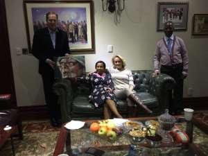 With Former President Thabo Mbeki and Zanele Mbeki in Johannesburg