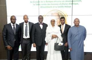 President Adesina and Babacar Ndiaye's family