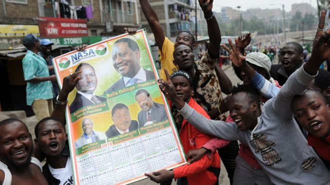 The Supreme Court's decision sparked celebrations by supporters of opposition candidate Raila Odinga