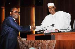 Ibe Kachikwu and Muhammadu Buhari