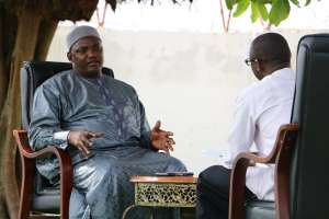 Kebba Jeffang Jnr recently ihad an interview with President Adama Barrow.Such interviews were unheard of in the Jammeh years