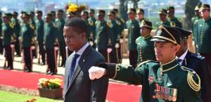 President Edgar Lungu has been accused of sliding Zambia into authoritarianism. Credit: GCIS.