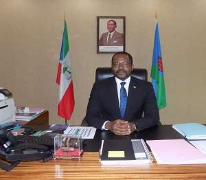 Equatorial Guinea's Minister of Mines and Hydrocarbons, Gabriel Mbanga Obiang Lima