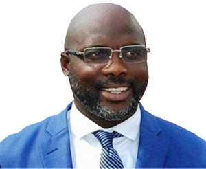 Weah is one of the frontline candidates in the upcoming elections in Liberia