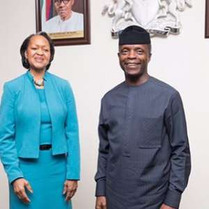 with Nigerian Vice President Prof. Yemi Osinbajo,African countries need more reforms to ease the business climate and attract more foreign direct investment says Florie Liser
