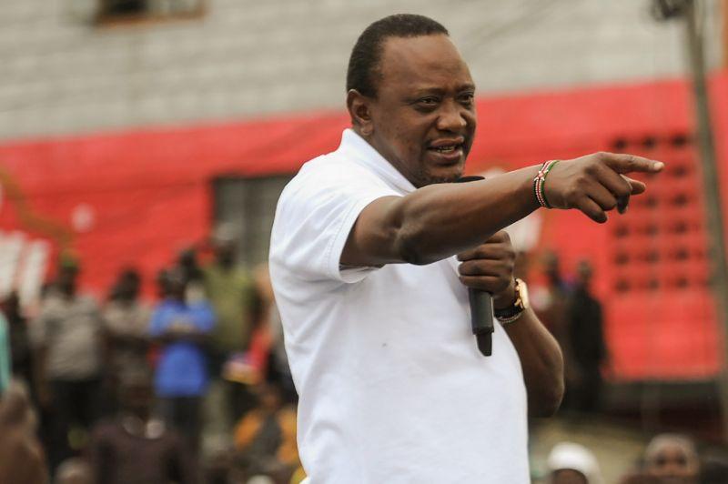 Uhuru Kenyatta -- scion of the elite, but also a crowd-pleaser (AFP Photo/TONY KARUMBA)