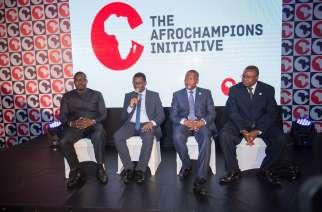 Samba Bathily, Michael Kottoh, Aliko Dangote, Albert Muchanga, AfroChampions Press panel