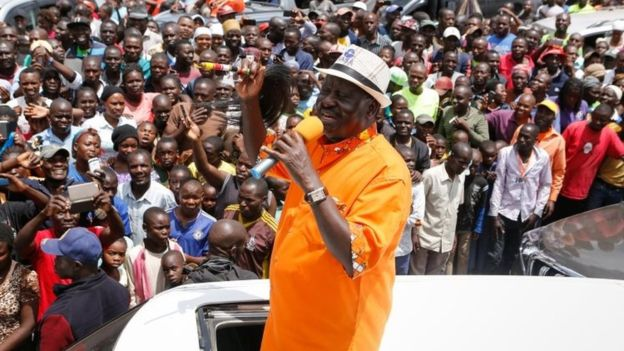 Opposition leader Raila Odinga called on his supporters to boycott the ballot