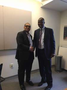 Andrew Alli, CEO of AFC and Hon. Felix Mutati, Zambia' s Minister of Finance