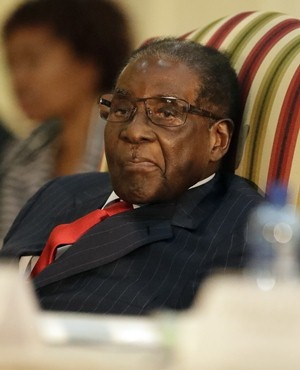 Zimbabwean President Robert Mugabe .AP Photo/Themba Hadebe)