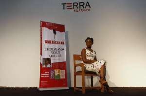 Novelist Chimamanda Ngozi Adichie after a reading of her book 'Americanah' in Lagos in 2013. Akintunde Akinleye /Reuters