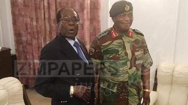 Robert Mugabe met the army chief who led the move against him