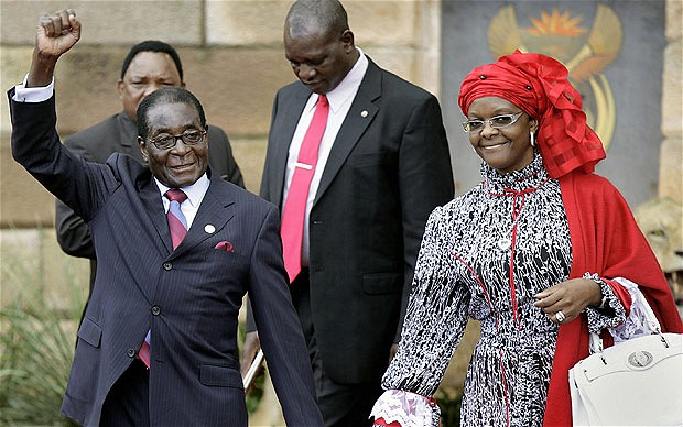 Robert Mugabe and his wife wife Grace- the end of an era?