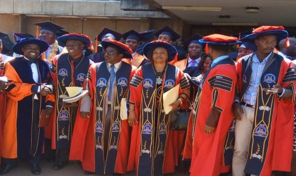 ICT University 4th Graduation Ceremony, Uganda Campus on May 26,2017.More than 100 students graduated from the ICT University.ICT University alumni are serving in diverse sectors across Africa ,Prof Mbarika says.