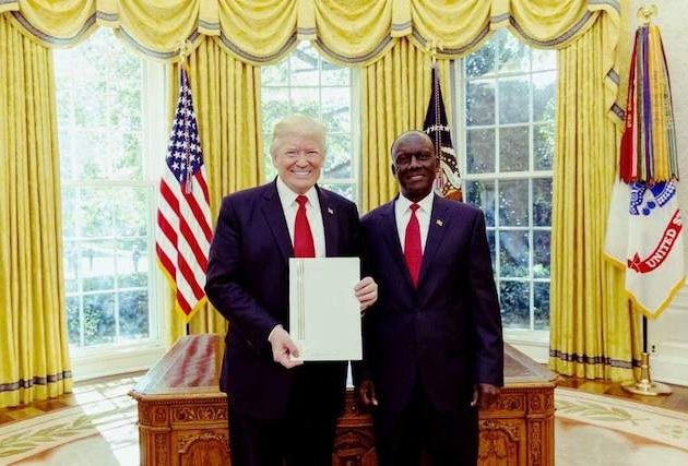 Ambassador Katinde recently presented his letters of credence to President Trump.While realtions between Uganda and the US are strong on common security issues, part of Ambassador Katende's mission is to work on stronger economic ties between the two countries.