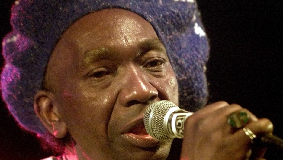 Thomas Mapfumo's music was banned by the country's state-owned media. Credit: Mike Cassese/Reuters