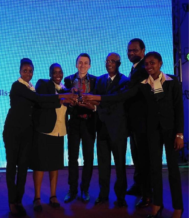 Mr. Busera Awel, CCO, & Mr. Henok Teferra, VP Strategic Planning and Alliances, while receiving the award