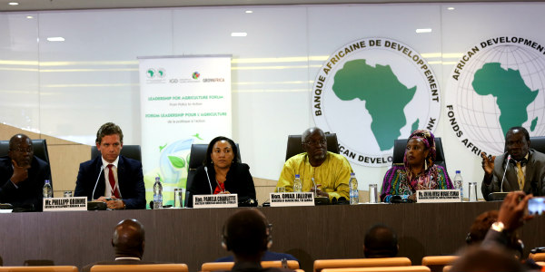"African Ministers and private sector leaders offer insights on the panel, ""Agriculture Powering Africa's Economic Transformation: Fueling Agro-industry and Agribusiness"""