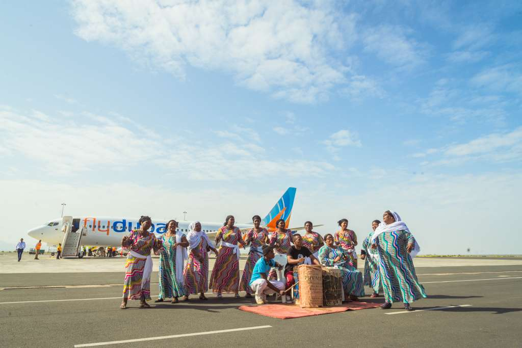 flydubai Inaugural flight to Kilimanjaro with new Boeing 737 MAX 8 aircraft on December 15, 2017 (Photo by APO Group)